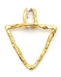 Niza Huang | Metallic 'triangular Pyramid' Ring | Lyst