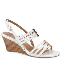 Söfft - White Posh Wedge Sandals - Lyst