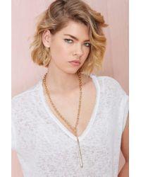 Nasty Gal | Metallic One Liner Necklace | Lyst