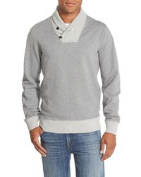 Bonobos | Gray French Terry Slim Fit Shawl Collar Pullover for Men | Lyst