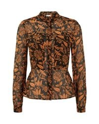 Hobbs - Orange Honeysuckle Shirt - Lyst
