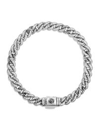 David Yurman | Metallic Petite Pavé Curb Link Bracelet With Diamonds for Men | Lyst
