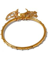 Chloé - Metallic Gold Izzy Charm Round Bangle - Lyst
