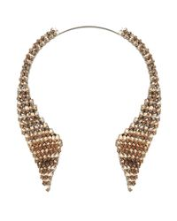 BCBGMAXAZRIA   Blue Layered Stone Collar Necklace   Lyst