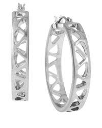 Robert Lee Morris | Metallic Geometric Hoop Earrings | Lyst