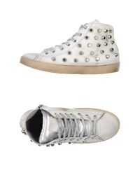 Beverly Hills Polo Club   White Giant-Studded High-Top Sneakers   Lyst