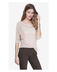 Express - Gray Mesh Dolman Sweater - Lyst