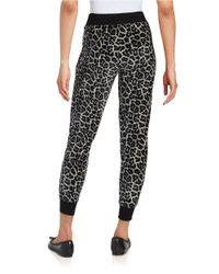 MICHAEL Michael Kors | White Petite Patterned Velour Pants | Lyst