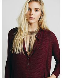 Free People - Red We The Free Womens We The Free Bittersweet Hacci - Lyst