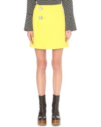 Marni - Yellow Wool, Cashmere And Angora-blend Skirt - Lyst