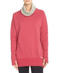 Bench | Red Cowl Neck Pullover Sweatshirt | Lyst