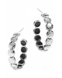 John Hardy | Metallic 'dot' Station Hoop Earrings | Lyst