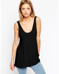 ASOS | Black Swing Vest With Baby Locked Finish | Lyst