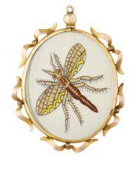 Annina Vogel - Metallic Gold Dragonfly Locket - Lyst