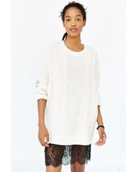BDG - White Elbow Patch Sweater - Lyst
