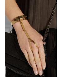 By Malene Birger | Metallic Ottava Goldplated Resin Finger Bracelet | Lyst
