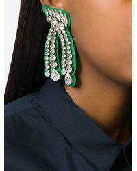 Shourouk - Green 'legend' Earrings - Lyst