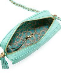 Eric Javits - Green Zip Pouch Pebble Leather Flapcrossbody Bag Bermuda - Lyst