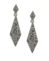 R.j. Graziano | Metallic Pave Teardrop Earrings | Lyst
