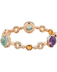 BVLGARI | Metallic Parentesi Cocktail 18Ct Pink-Gold Bracelet - For Women | Lyst
