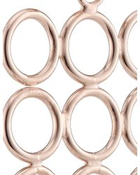Smith/grey | Pink Rose Gold Circle Array Earrings | Lyst
