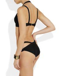 Hervé Léger | Black Doublestrap Bandage Bikini | Lyst