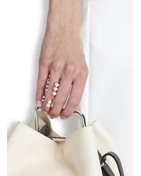 Joomi Lim | Metallic Rhodium-plated Faux Pearl Rings - Set Of Two | Lyst