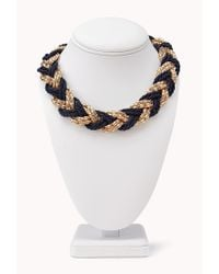 Forever 21 - Blue Cool Braided Choker - Lyst
