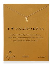 Dogeared - Metallic I Heart California Pendant Necklace - Lyst