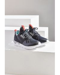 Adidas Originals - Gray Tubular Reflective Weave Sneaker - Lyst