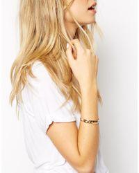 ASOS - Metallic Cut Out Triangle Cuff Bracelet - Lyst