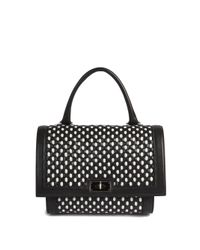 Givenchy - White Shark Small Woven Leather Satchel - Lyst