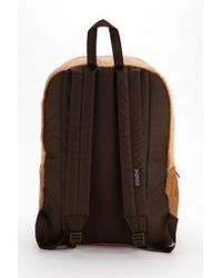 Jansport - Brown High Steaks Corduroy Backpack - Lyst