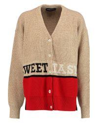Sonia Rykiel | Natural Intarsia Wool-blend Cardigan | Lyst