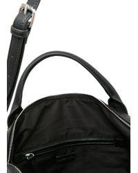 Mango - Black Zip-Detail Tote Bag - Lyst