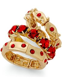 Style & Co. | Gold-tone Red Stone Ring Set | Lyst