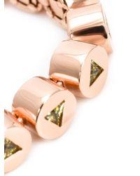 Eddie Borgo - Pink Embellished Beads Bracelet - Lyst