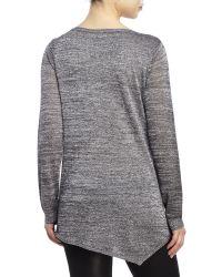 Premise Studio - Black Asymmetrical Lurex Sweater - Lyst