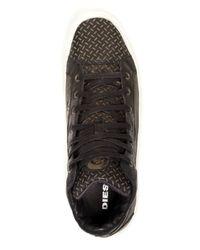 DIESEL - Black Volckran S-kwaartzz Sneakers for Men - Lyst