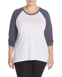 Make + Model | Gray High/low Baseball Tee | Lyst