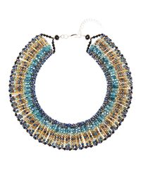 Nakamol - Blue Crystal Necklace - Lyst
