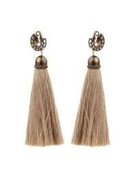 Lanvin - Natural Marina Swarovski-Embellished Earrings - Lyst
