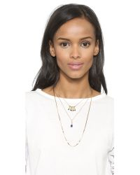 Serefina | Metallic Lapis Layered Necklace - Gold/Lapis | Lyst