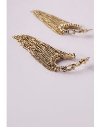 Missguided - Metallic Tassel Drop Earrings - Lyst
