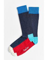Happy Socks | Red Colorblocked Sock for Men | Lyst