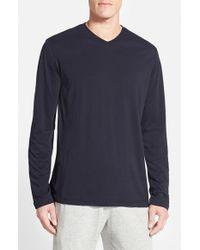 Daniel Buchler - Blue Pima Cotton & Modal Long Sleeve V-neck T-shirt for Men - Lyst