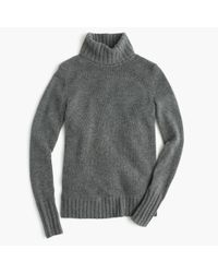 J.Crew | Gray Italian Cashmere Chunky Turtleneck Sweater | Lyst