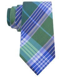 Tommy Hilfiger - Green Big Twill Plaid Tie for Men - Lyst
