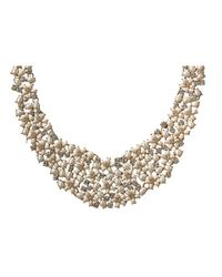 kate spade new york - Metallic Mini Bouquet Collar Necklace - Lyst