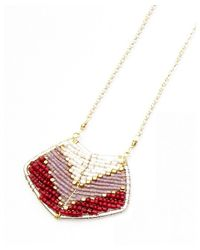 Nakamol - Multicolor Magdalene Pendant Necklace-ruby - Lyst